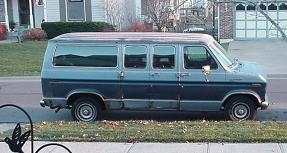 Old Ford van